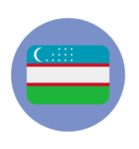 A picture of the Uzbek flag